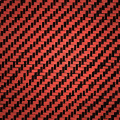 Carbon Fiber/Aramid BlackRed Swatch