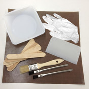Resin Mixing Kit with mixing stick, brushes, gloves and mixing sheet
