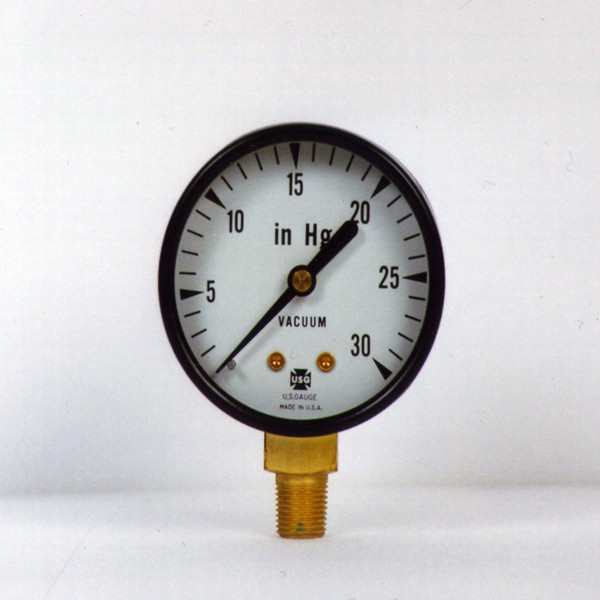 Close Up of Vacuum Gauge showing the dial